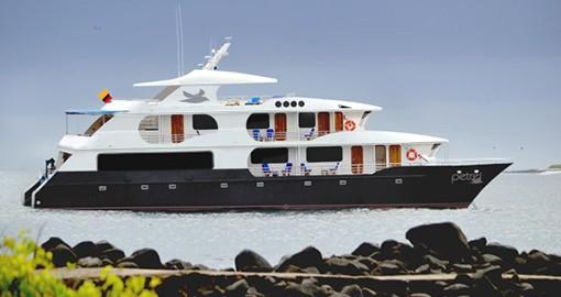 The Petrel Galapagos boat